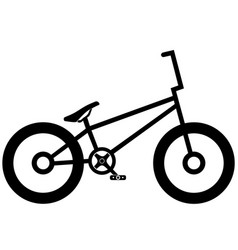 bicycle icon on white background eps 10 vector image vector image