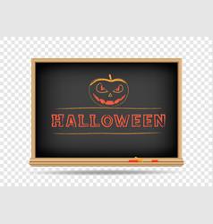 blackboard halloween drawing vector image vector image