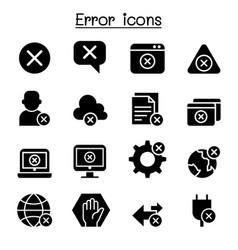 error icon set vector image