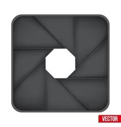 Icon of camera aperture lens vector