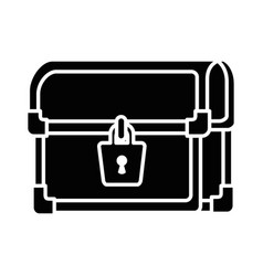 pixelated treasure chest icon vector image