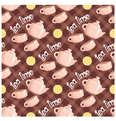 seamless tea pattern vector image vector image