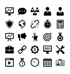 Seo and digital marketing glyph icons 7 vector