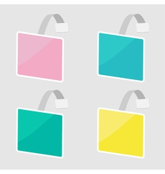Set of square wobblers Empty template Flat design vector image