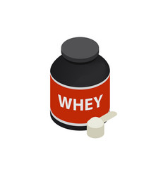 Sports nutrition icon isometric 3d style vector image