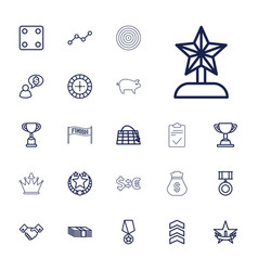 22 success icons vector