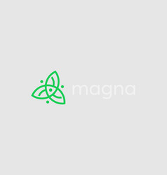 abstract leafs logo icon design universal vector image