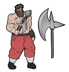 Axe barbarian vector
