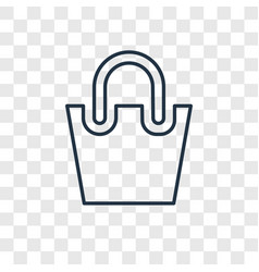 bag concept linear icon isolated on transparent vector image