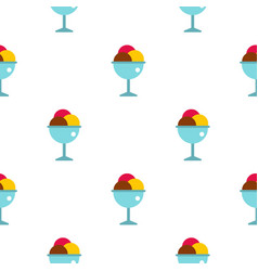 Balls of ice cream in a cup pattern seamless vector