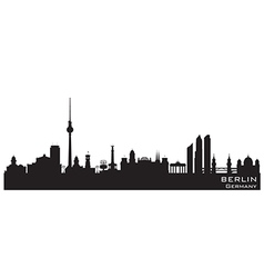 Berlin Germany skyline Detailed silhouette vector