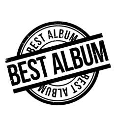 Best album rubber stamp vector