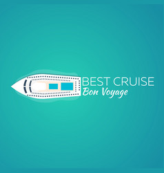 best cruise colorful travel to paradise best vector image