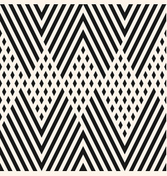 black and white geometric lines zigzag pattern vector image