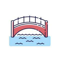 bridge rgb color icon vector image