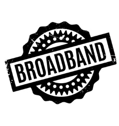 Broadband rubber stamp vector