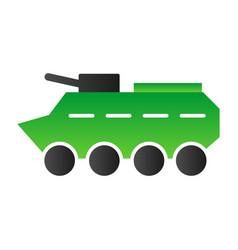 Btr flat icon amphibious vehicle vector