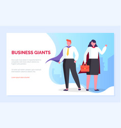 business giants people man and woman website page vector image