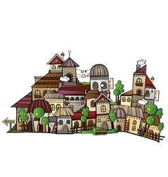 cartoon construction town vector image