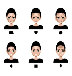 Contour and Highlight makeup vector image