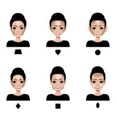 Contour and Highlight makeup vector