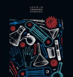 Coronavirus hand drawn design corona virus vector