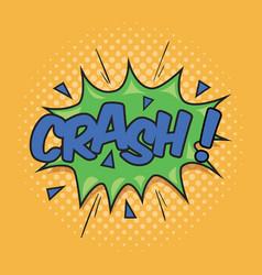 Crash wording sound effect vector