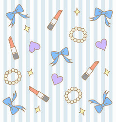 cute blue pastel girly background vector image