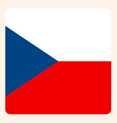Czech square flag button social media vector
