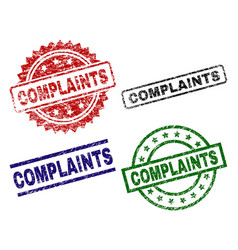 Damaged textured complaints seal stamps vector