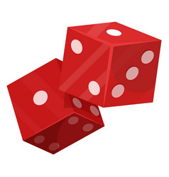 Dice luck game icon gambling and betting vector