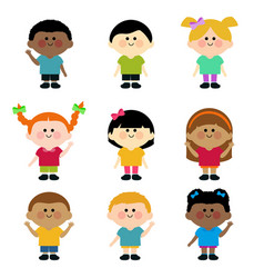 Diverse group children vector