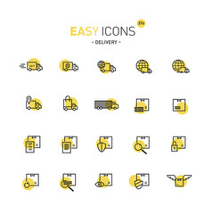 Easy icons 37d delivery vector