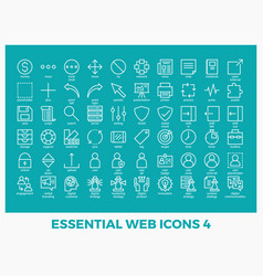 essential mixed web icons vector image