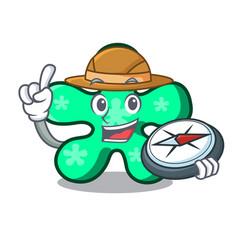 explorer free form mascot cartoon vector image