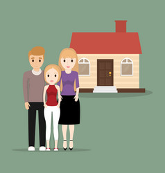 Family people home image vector