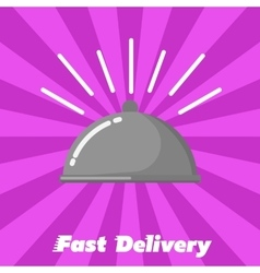 Fast delivery banner Human hand with watch vector