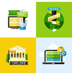 Flat design of make money concept vector image
