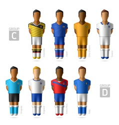 Footballers soccer players brazil 2014 vector