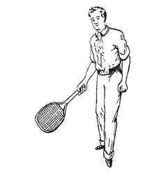 Forehand vintage vector