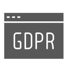 Gdpr site glyph icon webpage and website browser vector