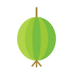 Gooseberry flat color art vector