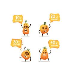 halloween pumpkin sales vector image