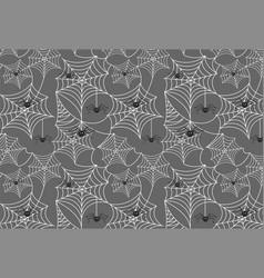 Halloween spiderweb background with spiders vector