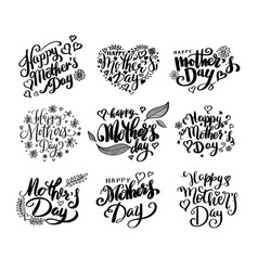 Happy mothers day calligraphy collection vector