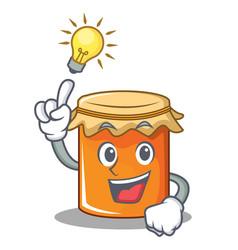 have an idea jam mascot cartoon style vector image