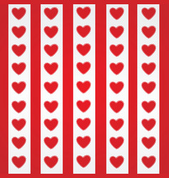 Heart icons set hand drawn icons vector