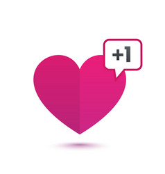 heart like with notification vector image