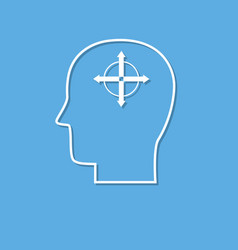 human mind icon solution symbol cut from white vector image