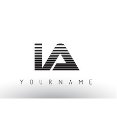 ia i a black and white horizontal stripes letter vector image